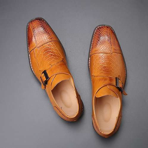 2020 Men's Dress Shoes Buckle Business Skyle Oxfords
