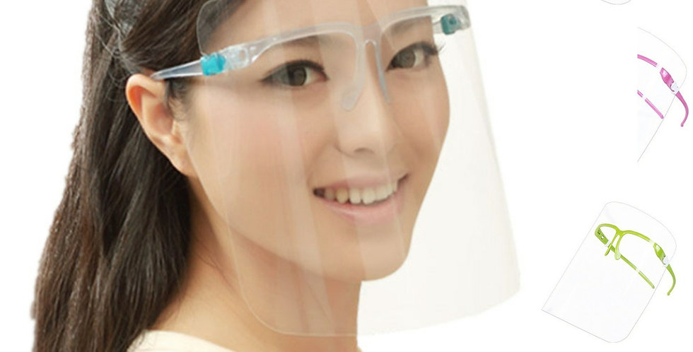 Face Shield Guard Mask Safety Protection With Glasses
