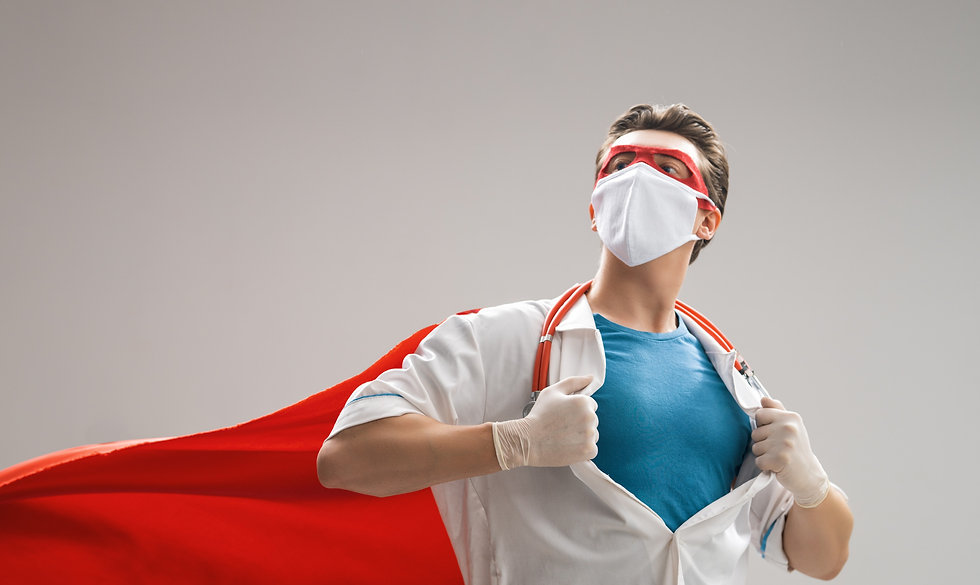 Doctor%20wearing%20facemask%20and%20superhero%20cape%20during%20coronavirus%20outbreak.%20