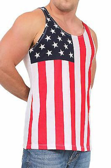 USA Flag Tank Top Stars & Stripes