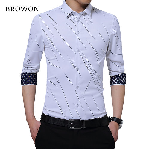 BROWON New Arrival Plus Size Mens Formal Shirts