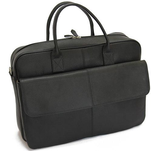 BRUNO -Leather Black  Briefcase MJ -Bag -Satchel -Moroccan Handmade