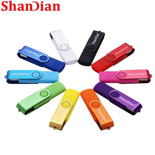 SHANDIAN USB Flash Drive OTG High Speed Drive 64 GB 32 GB 16 GB 8 GB 4GB