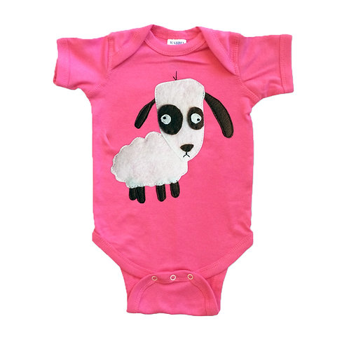 Baby Onesie - Sheep - Mi Cielo X Matthew Langille - Raspberry