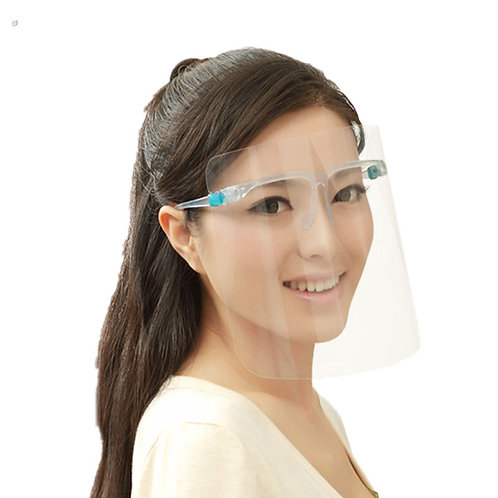 FACE SHIELD With Glass Frame Clear Protector Anti-Splash Work