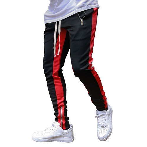 Casual Skinny Pants Joggers Sweatpants Men Fashion Patchwork Trousers Male Track