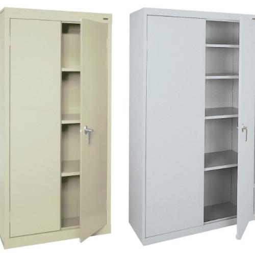 welded steel locking storage cabinet 3 shelves - Locking Storage Cabinet