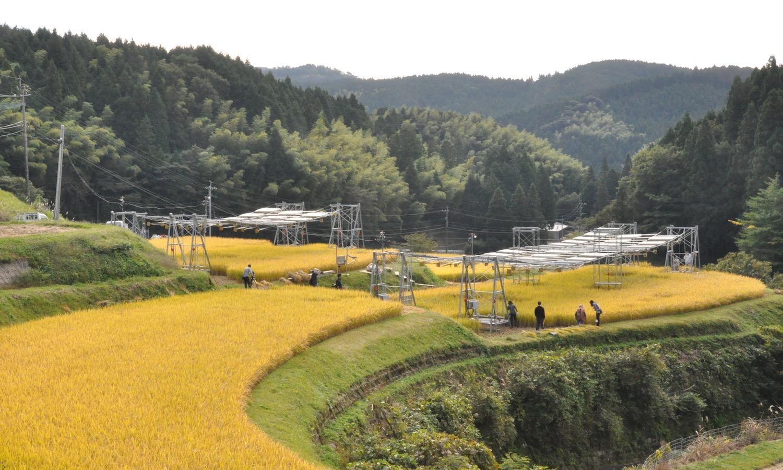 田んぼの発電所全景