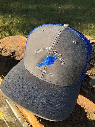 Hann Made Calls Gray/Blue Adjustable Hat