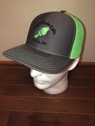 Hann Made Calls Gray/Neon Green Adjustable Hat