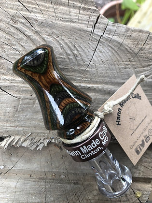 #19036.) Deep Forest Diamond Wood Custom Duck Call