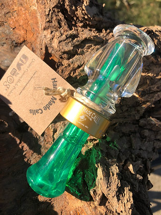 Clear/Green Production Acrylic Duck Call
