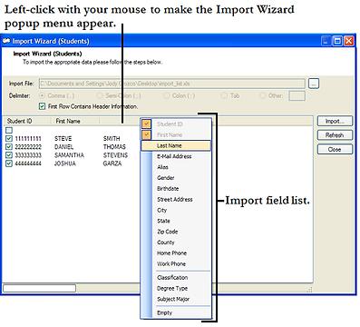 Manual Import Wizard