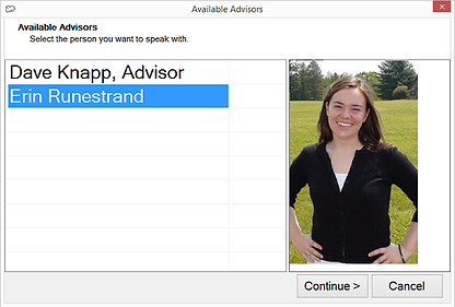 Select an Advisor (with Picture)