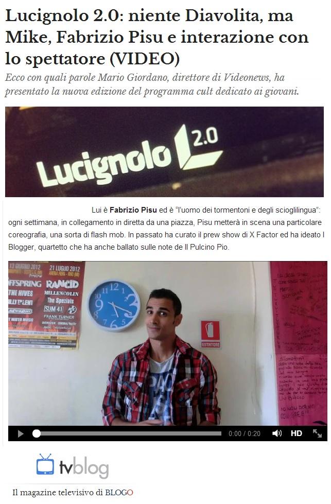 Fabrizio Pisu - TV BLOG