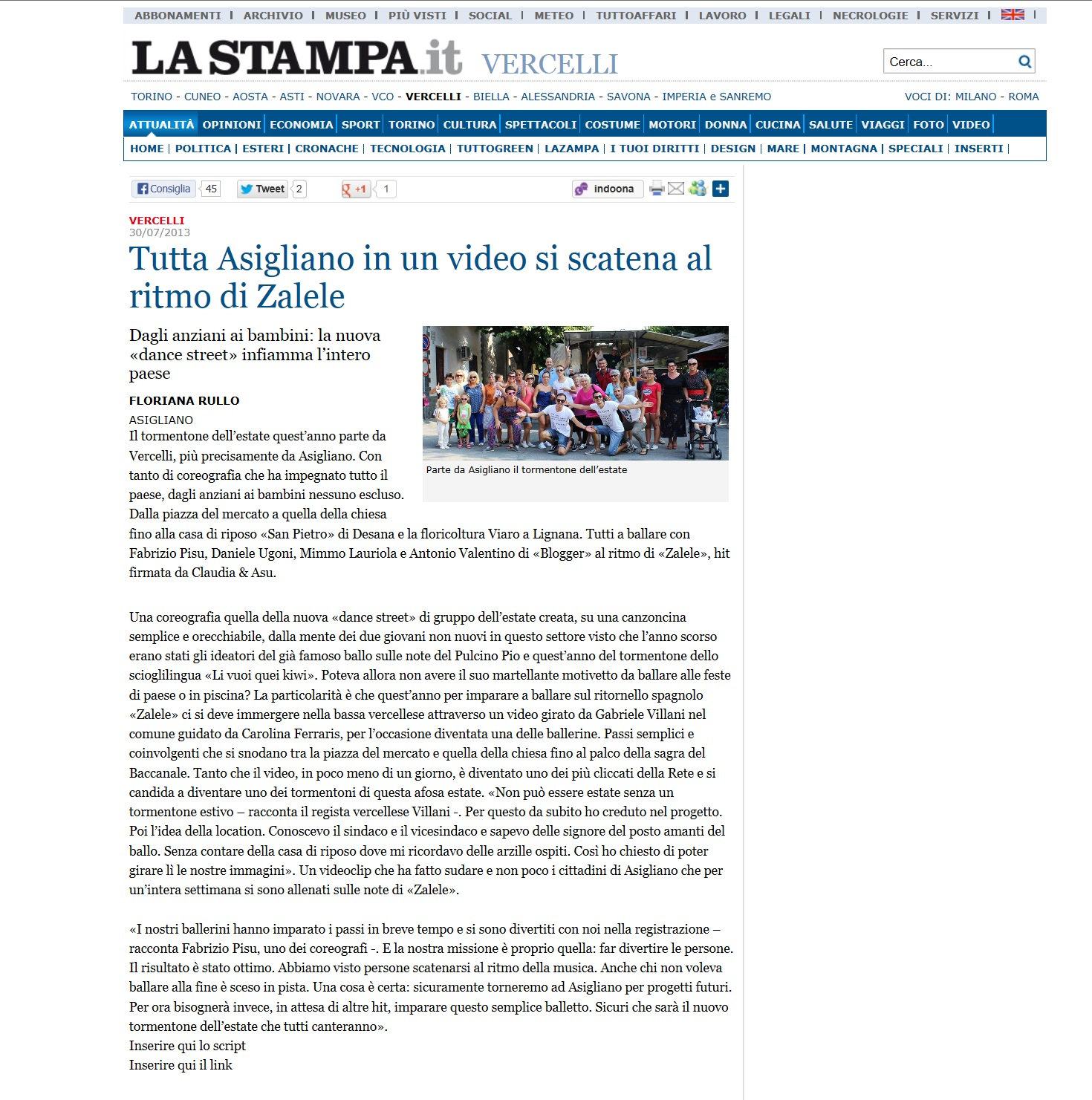 Fabrizio Pisu - La Stampa
