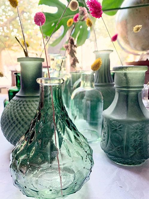 Diverse groene flesjes