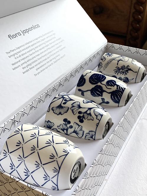 Cadeauset Flora Japonica -Blauw/wit 4 stuks