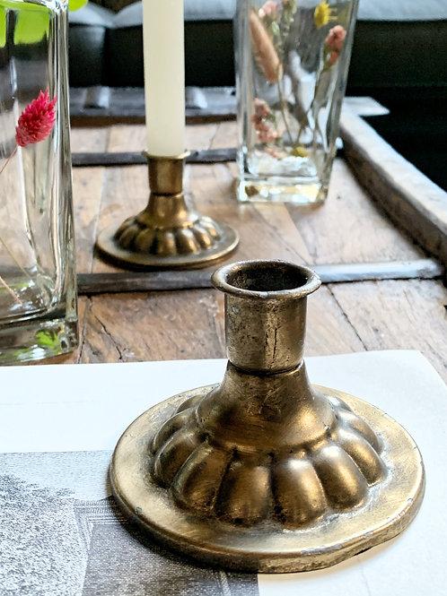 Kaarsen standaard Laag Goud