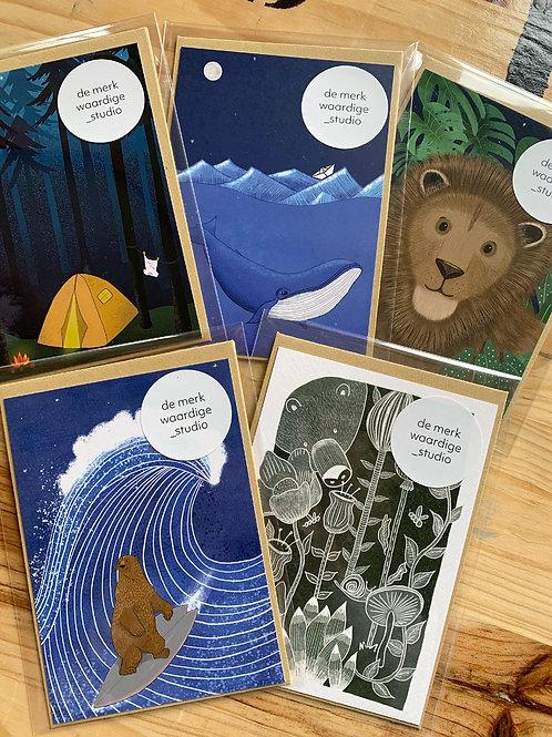 Diverse Kinderkaarten van 'De Merkwaardige Studio'