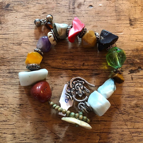 Ibiza armband met diverse stenen