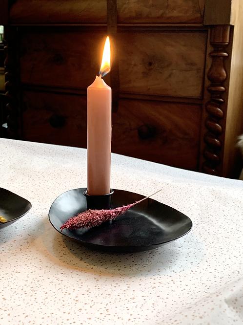 Kaarsenschaaltje Zwart - Mrs Bloom