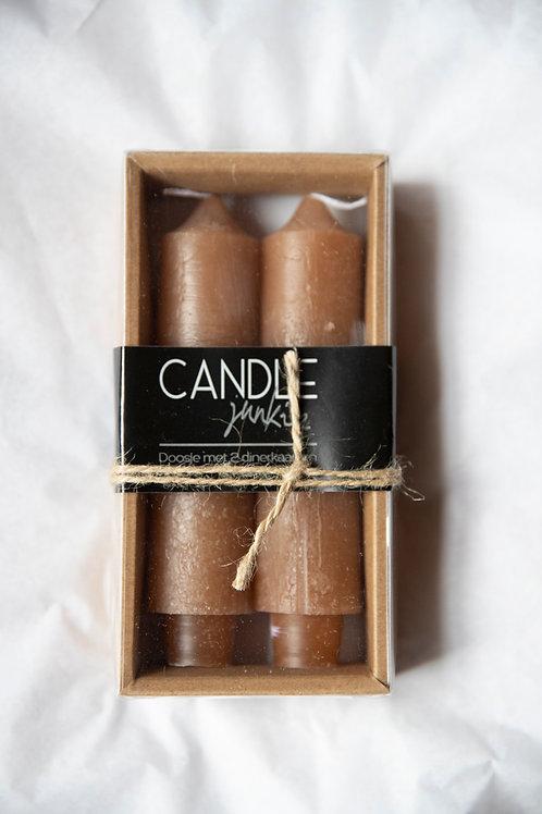 Candle Junkie - Dinerkaarsen Taupe