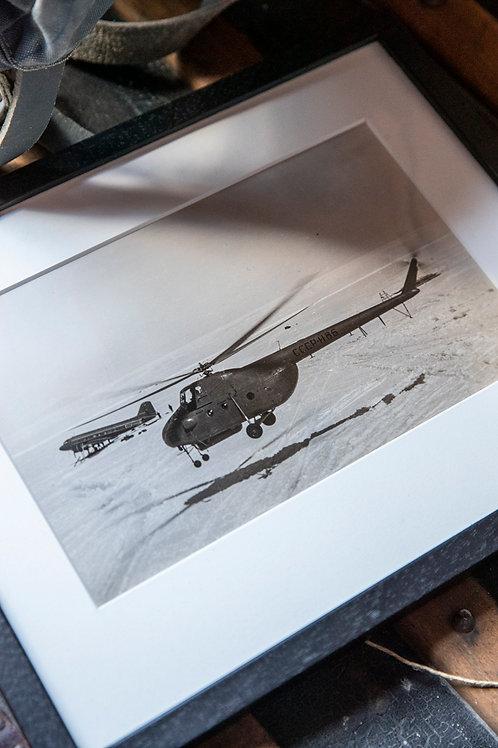 Vintage foto helikopter
