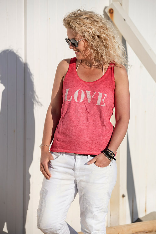 Tank-top LOVE - Roze