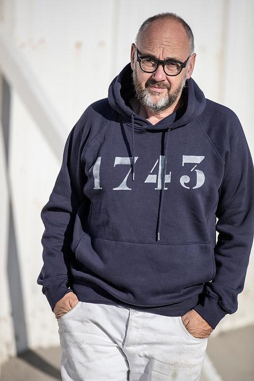 Hoodie 1743 Navy Blue