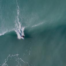 Angela surfing in Hawaii