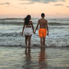Angela and Tyrone on the beach