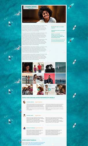 template #1 for memorial website