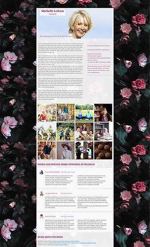 template #2 for memorial website