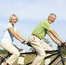 Eric & Susan biking