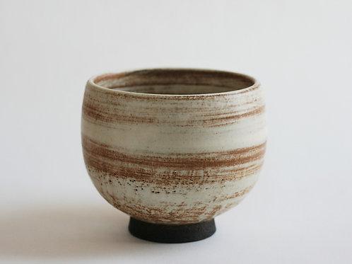 Cream Ceramic Bowl, Japanese tea bowl