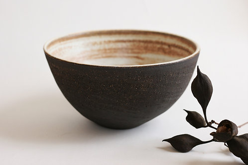 Black Rounded Serving bowl