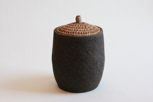 Black Pottery Jar