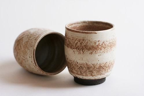 Cream ceramic cup