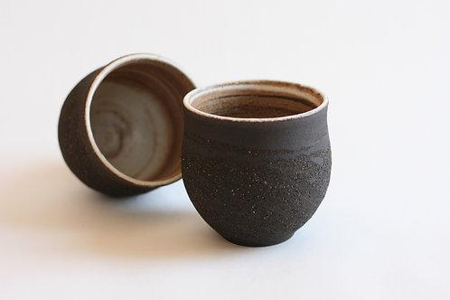 Black ceramic cup- Small