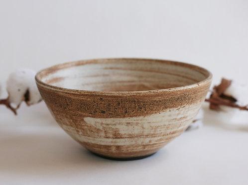 Beige Ceramic Salad Bowl