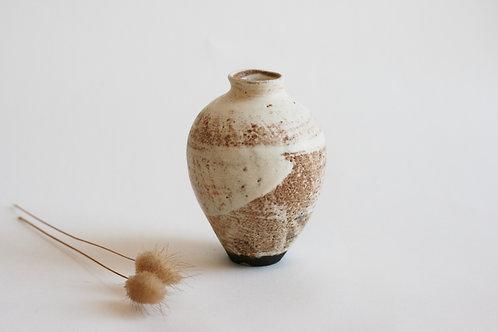 Cream ceramic Bud Vase