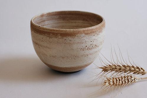 Rounded ceramic bowl
