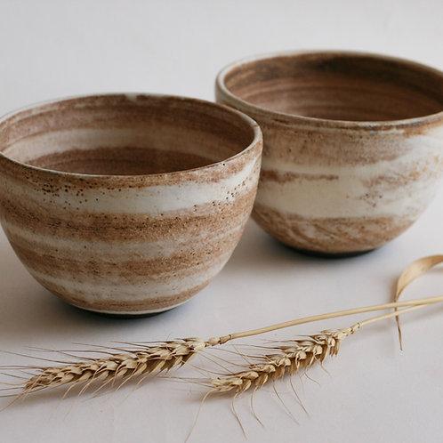 Cream ceramic bowl   Round soup bowl