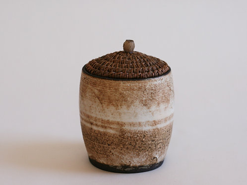 Cream Pottery Jar