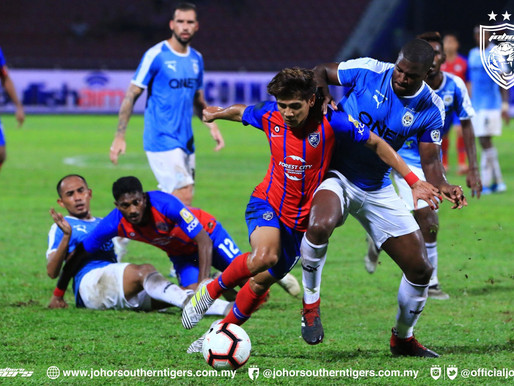 75-match unbeaten run ends for JDT as they suffer 1-0 defeat to PJ City FC in Malaysia Super League