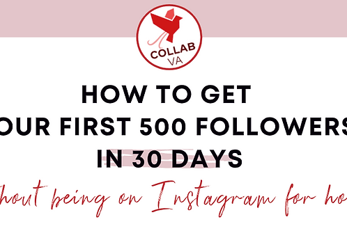Guide To Your First 500 Instagram Followers