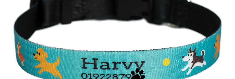 Pawsonalised by Jacq's Bespoke Collar, Dogs at Play, Small/Medium