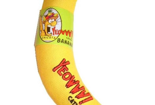 Yeowww! Catnip Yellow Banana Cat Toy