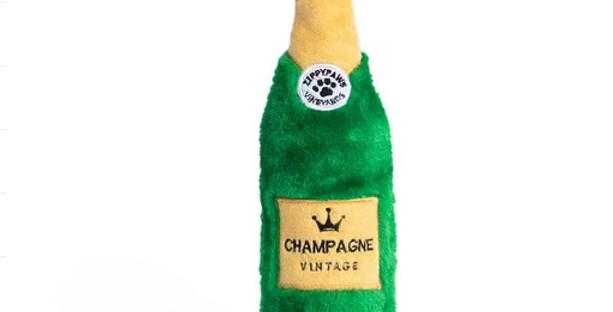 Happy hour Crusherz Dog Toy - Champagne